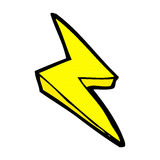 comic cartoon lightning bolt symbol Stock Photo