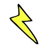 comic cartoon lightning bolt symbol Stock Images