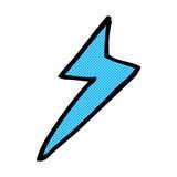 comic cartoon lightning bolt symbol Stock Photography