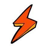 comic cartoon lightning bolt symbol Royalty Free Stock Image