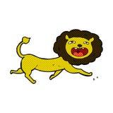 Comic cartoon lion Stock Images