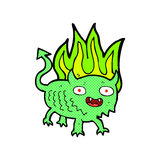 Comic cartoon little demon Royalty Free Stock Photography