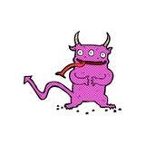 Comic cartoon little demon Royalty Free Stock Photo