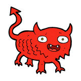 comic cartoon little demon Stock Images