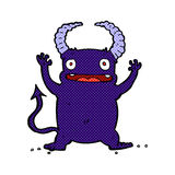 Comic cartoon little devil Royalty Free Stock Photo
