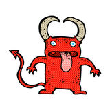 Comic cartoon little devil Royalty Free Stock Photos