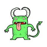 Comic cartoon little devil Stock Image