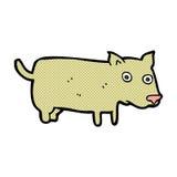 Comic cartoon little dog Stock Photos