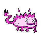 Comic cartoon little fire demon. Retro comic book style cartoon little fire demon Royalty Free Stock Photo