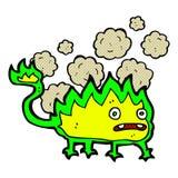 Comic cartoon little fire demon Stock Photo