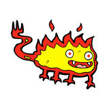 Comic cartoon little fire demon Royalty Free Stock Image