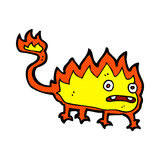 comic cartoon little fire demon Royalty Free Stock Photo
