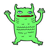 Comic cartoon little monster Royalty Free Stock Image