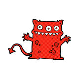 Comic cartoon little monster Royalty Free Stock Photo