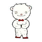 Comic cartoon little polar bear Royalty Free Stock Images