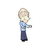 Comic cartoon lonely old man. Retro comic book style cartoon lonely old man Stock Photos