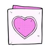 Comic cartoon love heart card. Retro comic book style cartoon love heart card Royalty Free Stock Photos