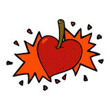 Comic cartoon love heart cherry Royalty Free Stock Photo