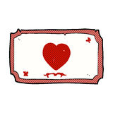 Comic cartoon love heart frame Royalty Free Stock Image