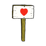 comic cartoon love heart sign post Royalty Free Stock Images