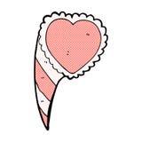 Comic cartoon love heart symbol Stock Images