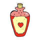 Comic cartoon love potion Stock Images
