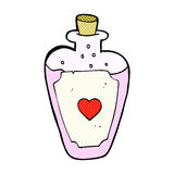 Comic cartoon love potion Royalty Free Stock Image