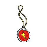 Comic cartoon magic pendant necklace Stock Photography