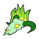 comic cartoon magic ram skull Stock Photo