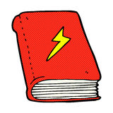 Comic cartoon magic spell book Royalty Free Stock Photos