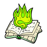 Comic cartoon magic spell book Stock Photos
