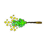 Comic cartoon magic wand casting spell Royalty Free Stock Image