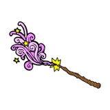 Comic cartoon magic wand Royalty Free Stock Photography