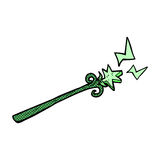 Comic cartoon magic wand Stock Photos