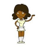Comic cartoon maid Royalty Free Stock Photography
