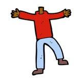 Comic cartoon male gesturing body (mix and match comic cartoons Stock Image