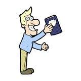 Comic cartoon man with book Stock Images