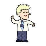 Comic cartoon man with good idea Stock Photos