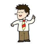 Comic cartoon man with good idea Royalty Free Stock Photography