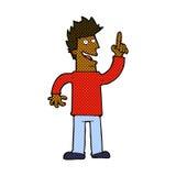 Comic cartoon man with great new idea Royalty Free Stock Image