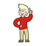 Comic cartoon man with idea Royalty Free Stock Image