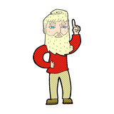 Comic cartoon man with idea Royalty Free Stock Images