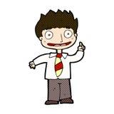 Comic cartoon man with idea Stock Images