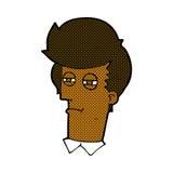 comic cartoon man with narrowed eyes Royalty Free Stock Photography
