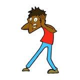Comic cartoon man panicking Stock Photos