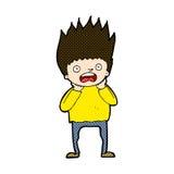 Comic cartoon man panicking Stock Photo