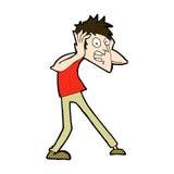 Comic cartoon man panicking. Retro comic book style cartoon man panicking Stock Images