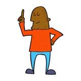 Comic cartoon man pointing finger. Retro comic book style cartoon man pointing finger Royalty Free Stock Photo