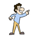 Comic cartoon man pointing and laughing Stock Photo