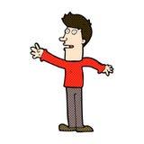 comic cartoon man reaching Royalty Free Stock Photography